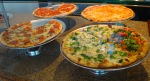 Different selection of homemade pizza