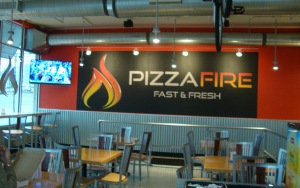 pizza fire interior
